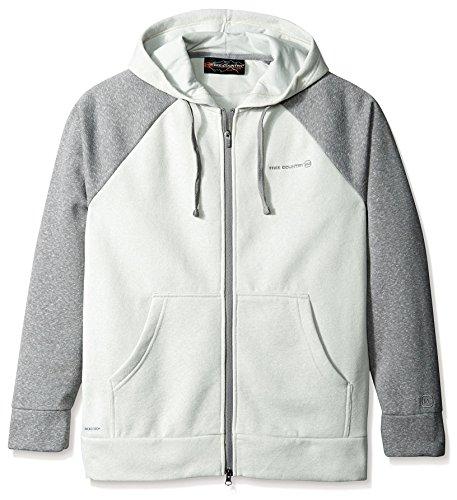 Free Country Men's Snow Fleece Hoodie, Shark Light Gray, XL