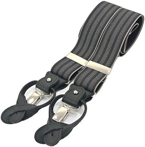 Men's Vintage Style Suspenders Braces The British Belt Co. Wilson Leather Trim Adjustable Braces Handmade in England £45.00 AT vintagedancer.com