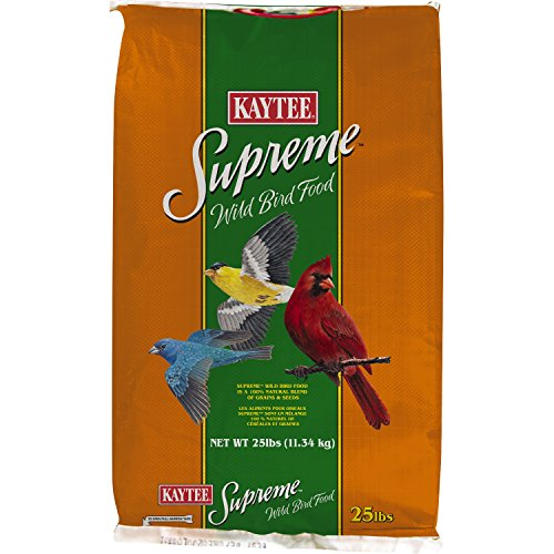 Kaytee Pet Products Supreme Wild Bird Pet Food, 25-Pound