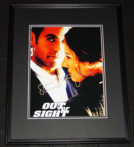 Steven Soderbergh Signed Framed 11x14 Out of Sight Poster - JSA Certified - Sight Framed