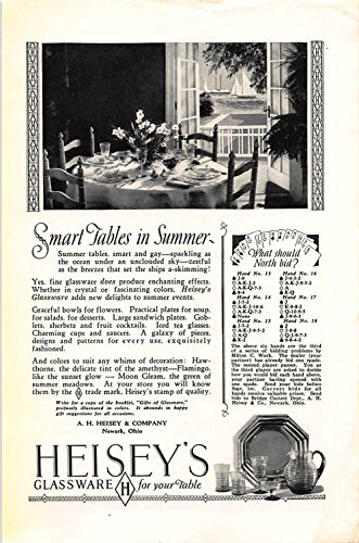 Print Ad 1927 A. H. Heisey Glassware for your table