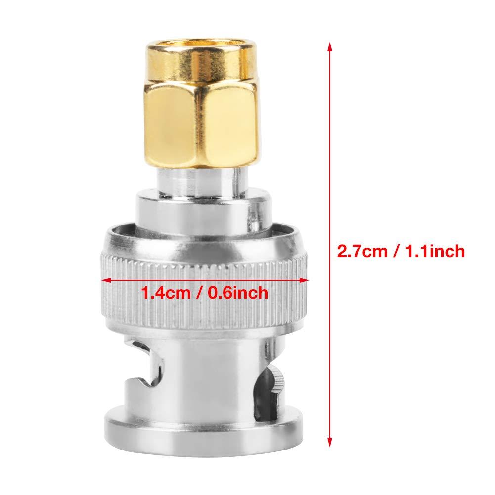 2 ST/ÜCKE BNC-Stecker auf SMA-Stecker Typ HF-Koaxialstecker Adapter Testkonverter Feinkupfermaterial