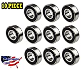 6204-2RS Ball Bearing Dual Sided Rubber Sealed Deep Groove (10PCS)