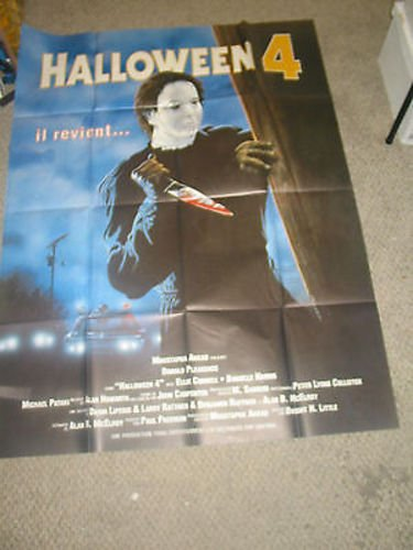 HALLOWEEN 4 /ORIG. FRENCH 1P MOVIE POSTER (DONALD PLEASENCE) (Donald Pleasence Halloween 4)