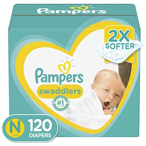 Pañales recién nacidos/Tamaño 0 (< 10 libras), 120 unidades – Pampers pañales desechables, paquete gigante