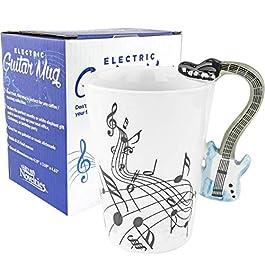 Fairly Odd Novelties FON-10214 Blue Electric Guitar Coffee Mug, One Size, White