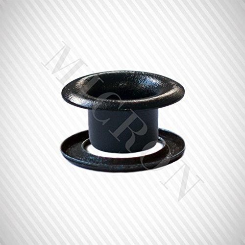 Grommet Machine TEP-3, #00 Dies, #00 (11/64'') Grommet & Washer 500 Pairs Set. (Black)