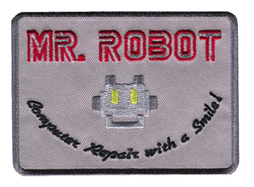 Mr Robot Computer Repair With a Smile Cosplay Costume Patch