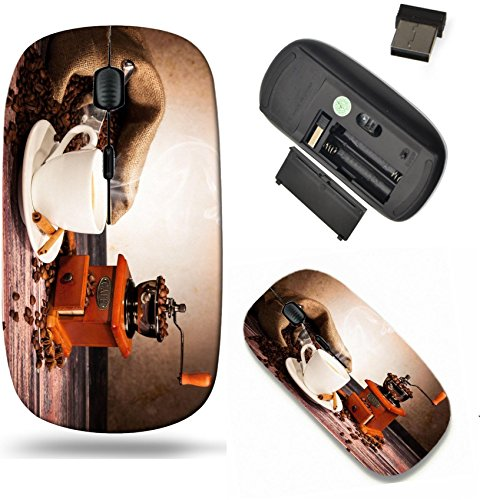 Liili Wireless Mouse Travel 2.4G Wireless Mice with USB Receiver, Click with 1000 DPI for notebook, pc, laptop, computer, mac book IMAGE ID: 17299177 Coffee still life with wooden grinder