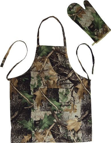 River's Edge Products Set Apron and Mitt, Camouflage