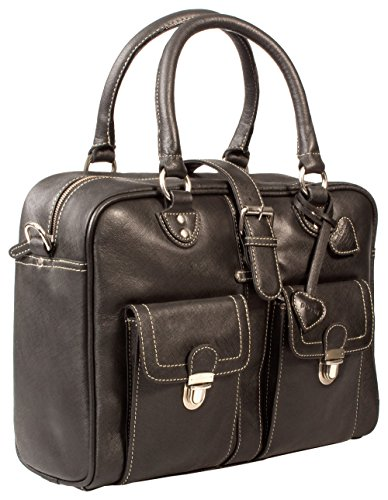 PAGANI Negro Saffiano–Large Ladies Business Bag/Bolsa para portátil