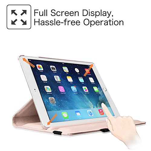 Fintie iPad mini 4 Case - 360 Degree Rotating Stand Case with Smart Cover Auto Sleep / Wake Feature for Apple iPad mini 4 (2015 Release), Rose Gold Photo #7
