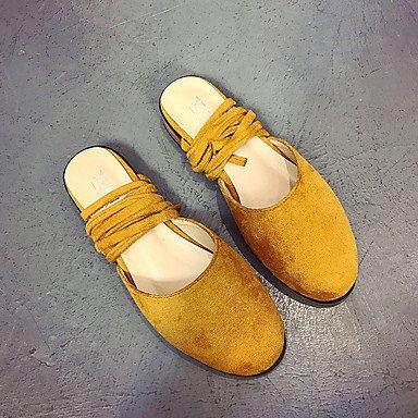Wome's sandalias Primavera Verano PU Confort vestir casual Chunky tal¨®n US6 / EU36 / UK4 / CN36