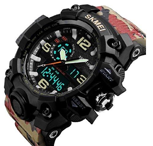 Carrie Hughes Men's Analog Digital Multifunctional Sport Dual Time Wrist Watch SK1155Y