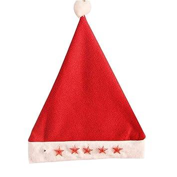 Gorro de Papá Noel brillante sombrero gorro de fiesta vivos ...