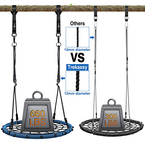 Trekassy 660lb Spider Web Swing 40 inch for Tree Kids with Steel Frame and 2 Hanging Straps by Trekassy (Image #2)