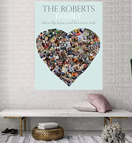 Amazoncom Photo Collage Wall Art Anniversary Gift Birthday
