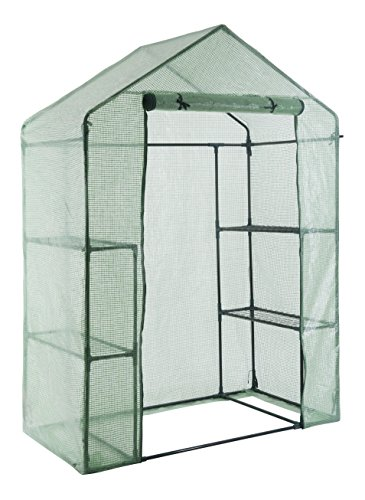 - GOJOOASIS Walk in Portable Garden Greenhouse Mini Plants Shed Hot House with 3 Tiers