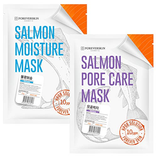Face Mask with Salmon DNA - 2 SETS HPDR 1% Facial Packs Professional Dermatology Care (Moisturizing+Porecare)