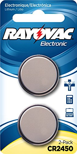 RAYOVAC KECR2450 2A Lithium Keyless Battery