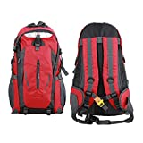 Batsomer Waterproof Outdoor Climbing Backpack Men Women Camping Hiking Athletic Travel Backpack Unisex Climbing Sport Bags Red Color