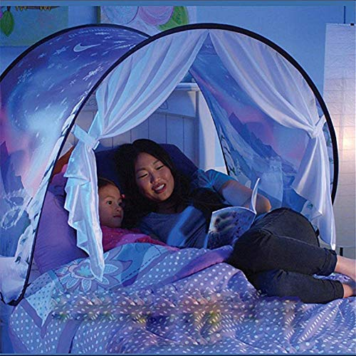 HEXbaby Dream Tent Unicorn Fantasy for Kids Play Tent Foldable Pop up Bed Tent Magic Playhouse Princess Secret Castle Birthday Christmas for Girls