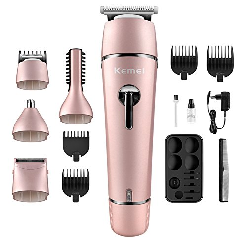 LFM 5 in 1 Hair Trimmer Kit Electric Hair Clipper Rechargeable Body Groomers Eyebrow Nose Trimmer for Men Women