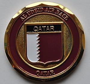 Al Udeid Air Force Base Qatar Shield Challenge Coin