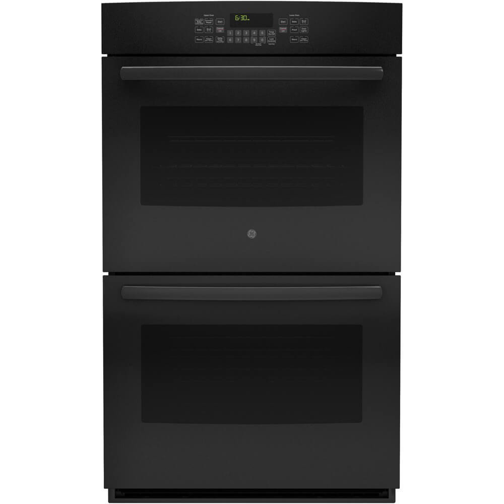 GE JT5500DFBB 30' Black Electric Double Wall Oven - Convection