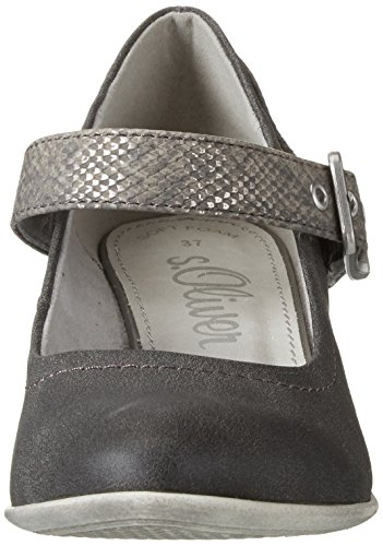 s.Oliver 24405 - Tacones Mujer Gris (GRAPHITE COMB. 216)