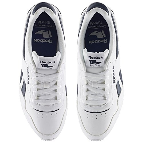 Reebok REEBOK ROYAL Glide rplclp–Scarpe da corsa, uomo, Bianco (White/Collegiate Navy)