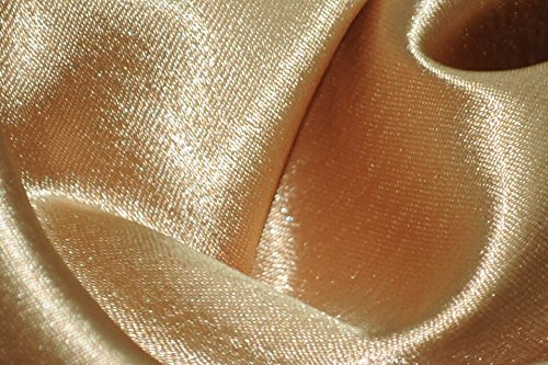 Crepe Back Satin Bridal Fabric GOLD Drapery Soft WIDE 30 YARD Roll WHOLESALE ()