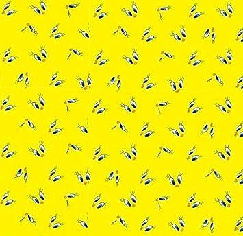 Amazon 44 wide fabric looney tunes tweety bird eyes yellow amazon 44 wide fabric looney tunes tweety bird eyes yellow background fabric by the yard voltagebd Images