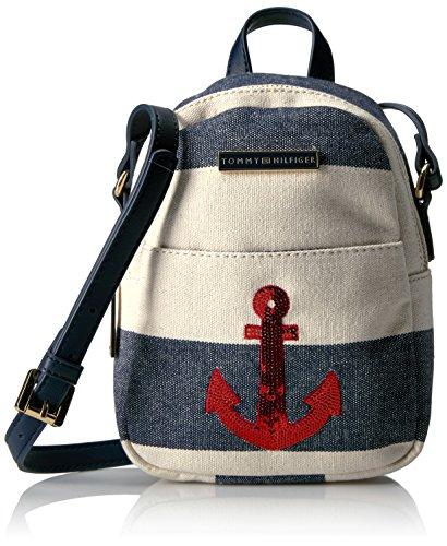 Tommy Hilfiger , Damen Rucksackhandtasche mehrfarbig Navy/natural