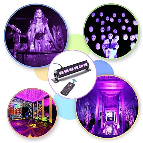 U`King Black Light Bar 6 LED x 3W for Glow Parties by RF Remote Control and DMX Controller by U`King (Image #3)