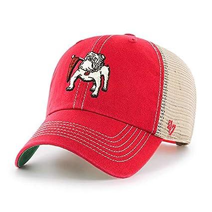 d36bab4788e9a8 Amazon.com : '47 Georgia Bulldogs Brand Red Vintage Trawler Clean Up ...