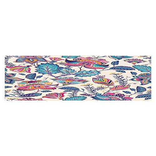 Dragonhome Fish Tank Backdrop Static Cling Vintage Flowers Background in Provence Style PVC Decoration Paper Cling Decals Sticker L23.6 x H11.8 ()