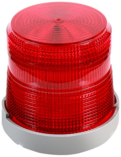 Edwards Signaling 48XBRMR120A XTRA-BRITE LED Multi-Mode Beacon, Polycarbonate/ABS Blend Base, 120V AC, Red