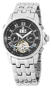 Burgmeister California BM118-121 - Reloj de caballero automático, correa de acero inoxidable color plata