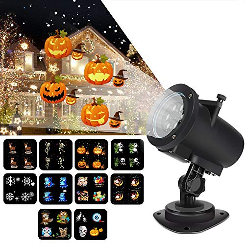 Streamlined Animation Projection lamp to Halloween,Party lamp,Festivity lamp.10+2pictures