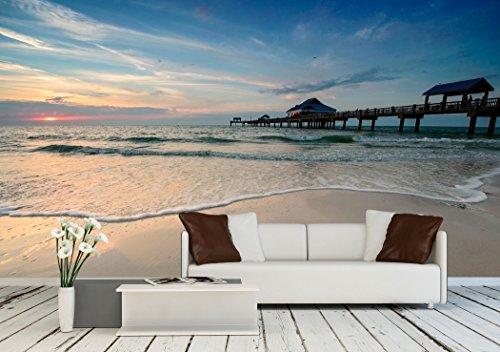 Sunset near Pier 60 on a Clearwater Beach Florida USA