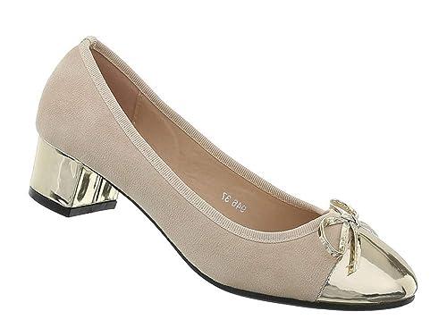 01396525533ad Damen Schuhe Pumps Blockabsatz runde Kappe Lack Business Schuhe Pump ...