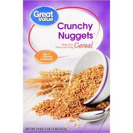 Great Value Breakfast Cereal, Crunchy Nuggets, 29 Oz (PACK 3) ()