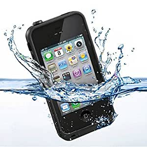 SJT Perfect Designed All-around Waterproof Hard Full Body Case for iPhone 4/4S (Assorted Colors) , Blue