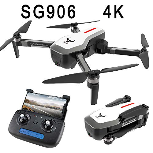 SG906 4K Drone Camera GPS 5G WiFi FPV with 4K Ultra Clear Camera Brushless Selfie Foldable GPS/Optical Flow Positioning Hover RC Drone Quadcopter RTF