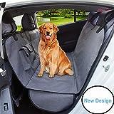 AMOFY Dog Seat Cover for Car Back Seat, Machine Washable, Dog Hammock Scratch-Proof, Waterproof, Non-Slip, Durable Portable Car Back Seat Cover for Cars, Trucks, SUVs, Gray