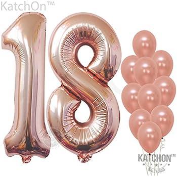 Amazon.com: 18 cumpleaños decoraciones Banner globo, Happy ...