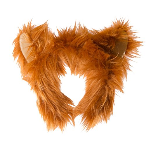 Fox Head Costume (Wildlife Tree Plush Red Fox Ears Headband Accessory for Red Fox Costume, Cosplay, Pretend Animal Play or Forest Animal Costumes)