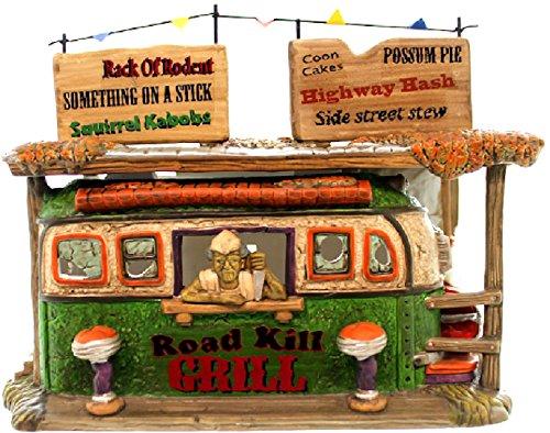 (Dept 56 Roadkill Grill Halloween Snow Village Lit House Road Kill Grill New)