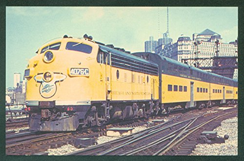 Northwestern Train (Chicago Northwestern F7 Communter Train City Downtown Railroad Postcard)